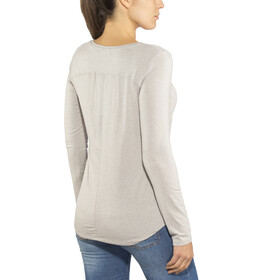 Prana Foundation Top manga larga cuello redondo Mujer, light grey heather